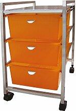 Laroom 11997-3Breite Schubladen, orange