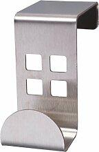 LAROOM 12017–Kleiderbügel 4tür Edelstahl, Metall