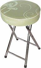 LAROOM 12803–Hocker-Küche zusammenklappbar Kaffeemaschine, Beige und Grün