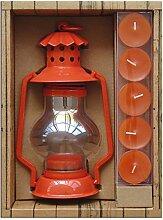 LAROOM 12934–Set Geschenk Taschenlampe porta-velas Outdoor, Ro