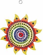 LAROOM 14014–Anhänger Sonne Schutzhülle mit Spiegel 35cm, Farbe mehrfarbig