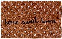 Laroom Fußmatte Home Sweet Home 40x70x1.8 cm braun