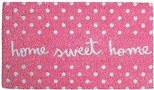 Laroom Fußmatte Home Sweet Home 40x70x1.8 cm Rosa