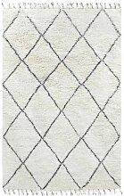 Larra-Berber-Teppich aus schwarzer und weißer