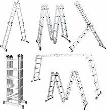LARS360 5.5M Leiter Mehrzweckleiter Klappleiter
