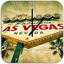 Las Vegas Ortseingangsschild alt, Wanduhr