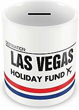 Las Vegas Retro Holiday Fund Spardose Geschenkidee Reisen Einsparung Sparschwein