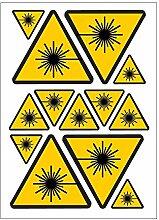 laser A4 Sticker Aufkleber Gefahr B81,