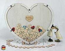 Laserano 3D – Bilderrahmen in EICHE-WEIß - Eine tolle und individuelle Geschenkidee! - Personalisierbar ! Gästebuch zur Hochzeit - Goldhochzeit - Edler Bilderrahmen +++ HIT 2018 +++ GÄSTEBUCH FÜR BIS ZU 100 PERSONEN +++