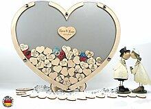 Laserano 3D – Bilderrahmen in SILBER - Eine tolle und individuelle Geschenkidee! - Personalisierbar ! Gästebuch zur Hochzeit - Goldhochzeit - Edler Bilderrahmen +++ HIT 2018 +++ GÄSTEBUCH FÜR BIS ZU 100 PERSONEN +++