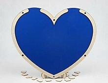 Laserano Gästebuch Herz Blau