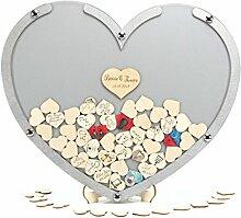 Laserano Hochzeit Gästebuch Alternative – Herz