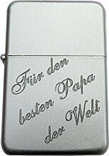 Laserjet Gasfeuerzeug Matt/silbergrau poliert.