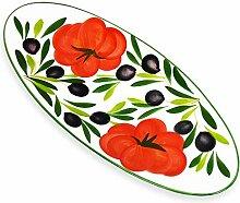 Lashuma Anrichteplatte Oval, Keramikplatte für