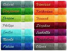 Lashuma Badetuch XXL mit Namen Stickerei -