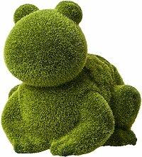 Lashuma Dekoration Dekofigur sitzender Frosch - Gartendeko mit grüner Beflockung - Gartenskulptur 20 cm