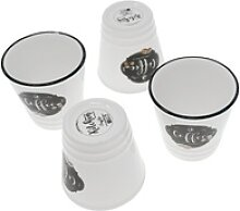 Lashuma Espressotasse Coffee (4-tlg), Porzellan,