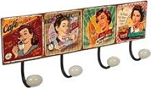 Lashuma Garderobenleiste Drinks, 4er Vintage