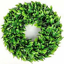 Lasperal Künstliche grüne Blätter Kranz