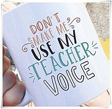Lassen Sie mich nicht meine Lehrerstimme