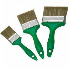 Lasur Flachpinsel Set 3 tlg. - Flachpinsel mit Mischborste