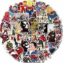Later Marvel Superhelden Parodie Aufkleber