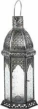 Laterne Aila 30cm orientalisches Windlicht indische Glaslaterne bunte Gartenlaterne (1, weiss)