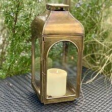 Laterne 74cm Hängelaterne antik Eisen Kerzenhalter innen und aussen Leuchter