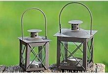 Laterne Farol, Windlicht mit Henkel, romantisches Licht, Kerzenhalter, aus Eisen, lackiert, Höhe 12,5 cm, braun, 1 Stk