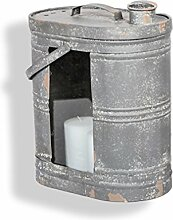 Laterne Kanister Windlicht Metall Glas Gartendeko