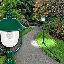 Laterne Poller Leuchte ↥1320mm/ Grün/ Alu/ AUSSEN Wege Lampe Aussenlampe Aussenleuchte Gartenlampe Gartenleuchte Pollerlampe Pollerleuchte Wegelampe Wegeleuchte