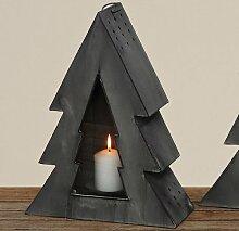 Laterne Tanne Weihnachten Kerzenständer Dekoration Windlicht Leuchter