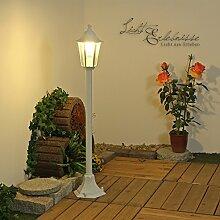 Laterne Wegleuchte in schwarz E27 230V Aussenleuchte Wegelampen Beleuchtung für Aussen Hof und Garten