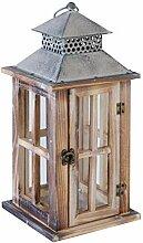Laterne Windlicht Gartenlaterne| Holz | Hellbraun