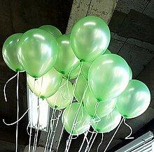 Latex-Luftballon, bunt, Perlen, 25,4 cm grün