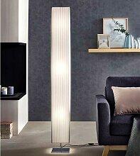 Latex Stehleuchte in Weiß und Chromfarben modern