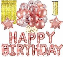 LATTCURE Geburtstag Dekoration, Geburtstag Deko
