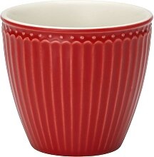 Latte Becher Alice red