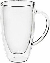 Latte Macchiato Glas mit Henkel Doppelwandglas