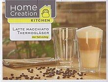Latte Machiato Thermogläser Borosilikatglas