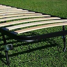 Lattenrost öffnen Einzelbild platzsparend faltbar ausziehbar versenkbare Bett Bettkasten singola 80x190