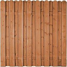 Lattenzaun Holzzaun Dover B180 x H180 cm braun gestrichen