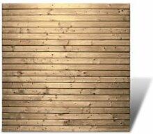 Lattenzaun Zaunelemente im Maß 180 x 180 cm aus