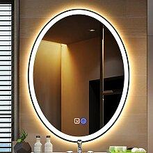 Lattice Badspiegel Bad beleuchtetes LED-Oval-Licht