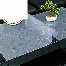 Lattice coffee table mat/pvc tischset/weichglas tischdecke/frosted,wasserdicht],Öl-beweis,burn-proof,rechteck,wohnzimmer tischtuch tisch mat-D 80x120cm(31x47inch)