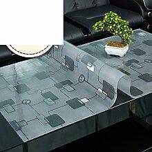 Lattice coffee table mat/pvc tischset/weichglas tischdecke/frosted,wasserdicht],Öl-beweis,burn-proof,rechteck,wohnzimmer tischtuch tisch mat-B 80x120cm(31x47inch)