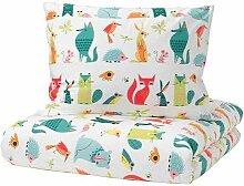 LATTJO IKEA Bettwäscheset in bunt; mit Tiermotiv;