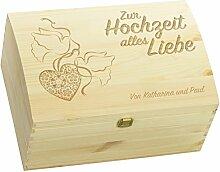 LAUBLUST Holztruhe mit Gravur - Personalisiert mit