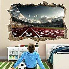 Laufbahn Sport 3D Wandkunst Aufkleber