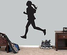 Laufen Mädchen Tapete Entfernbare Wandaufkleber